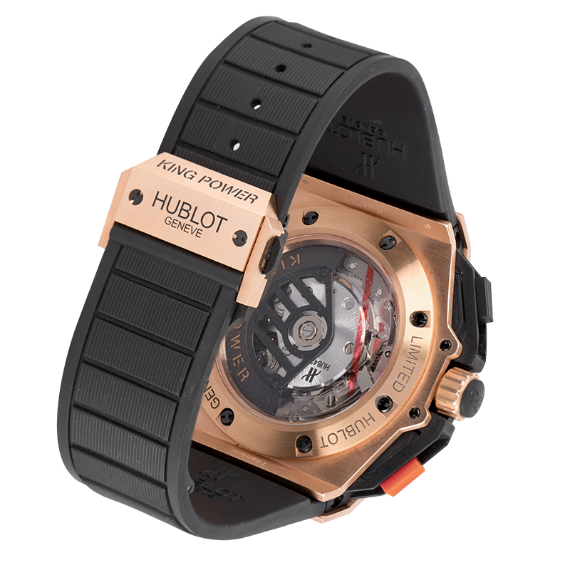 Hublot Watch Hublot King Power UEFA Rose Gold Diamond Set Watch 716.OM.1129.HR.EUP12