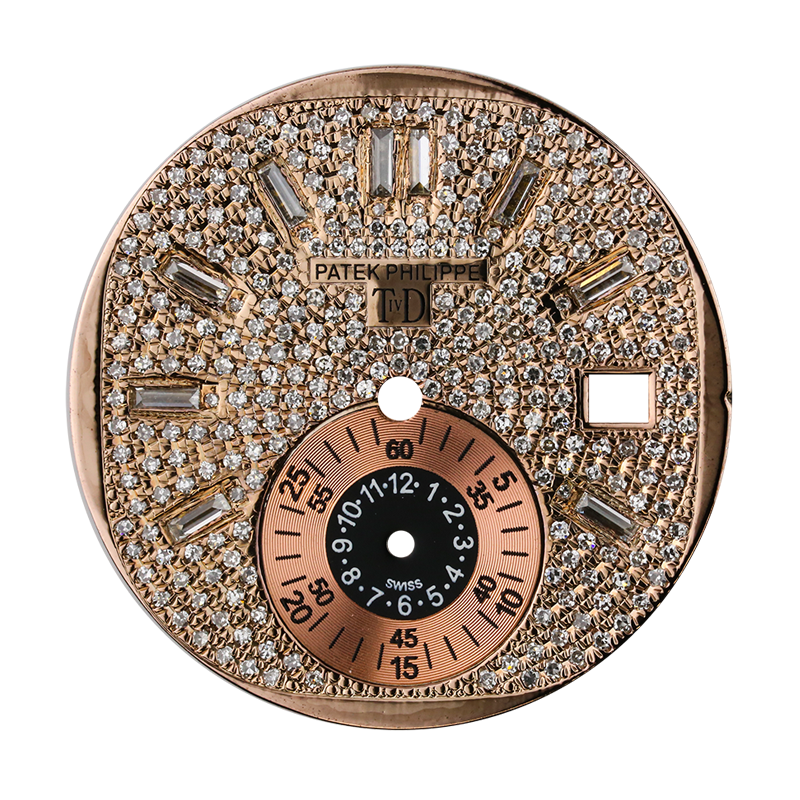 Patek Philippe Parts Patek Philippe Nautilus 5980 Rose Gold Diamond Set T4D Custom Dial