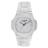 Patek Philippe Watch Patek Philippe 5711 Stainless Steel Full Diamond Set Custom Watch