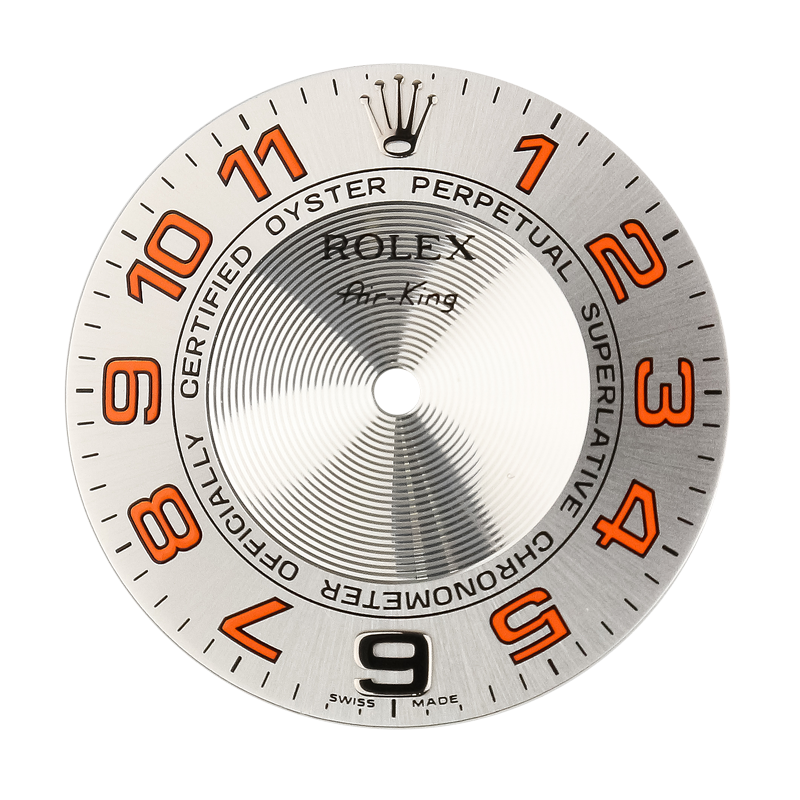 Rolex Parts Rolex Air-King 40mm Orange Numerals Original Factory Dial