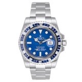 Rolex Watch Rolex Submariner Date 18ct White Gold with Custom Blue Bezel 116619LB