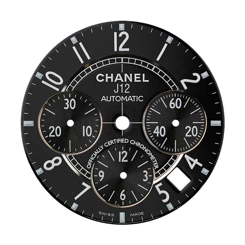 T4DUK Parts Chanel J12 41mm Black Custom Dial