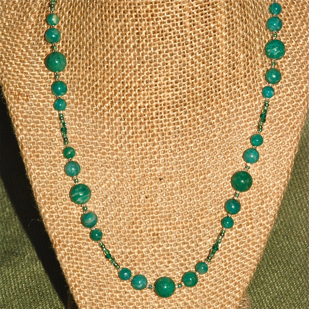 Amazonite necklace - -2051N