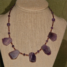 Amethyst slices with sterling silver clasp - 3003N