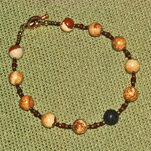 Picture Jasper Bacelet with Lava Stone - 1004Bag