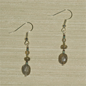 Labradorite Earrings with oval drop