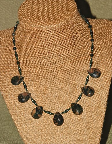 Moss Agate Necklace - 3025N