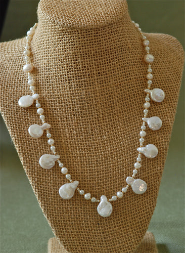 Pearl Necklace with Drops - 3023N