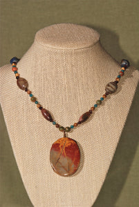 Energy Surround Necklace with Red Creek Jasper pendant - 3034ESN