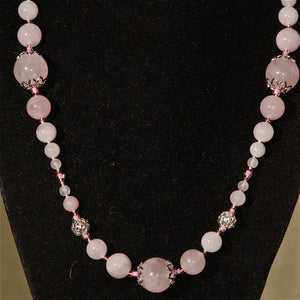 Rose Quartz Necklace - 3039N