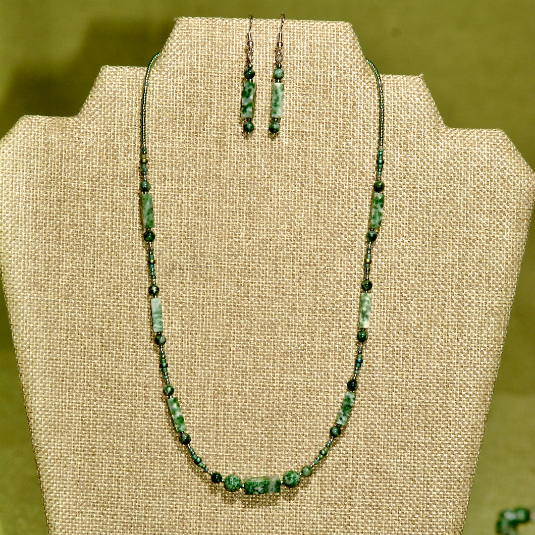 Green Tree Agate Necklace - N5003