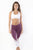 RIO GYM Billie Capri - Bordeaux yoga wear for women