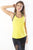RIO GYM Arianna Tank - Yellow yoga wear for women