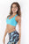 RIO GYM Cabana Bra - Turquoise yoga wear for women