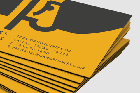 Gangrunners i business cards boss stock colored edges business cards boss stock next reheart Image collections