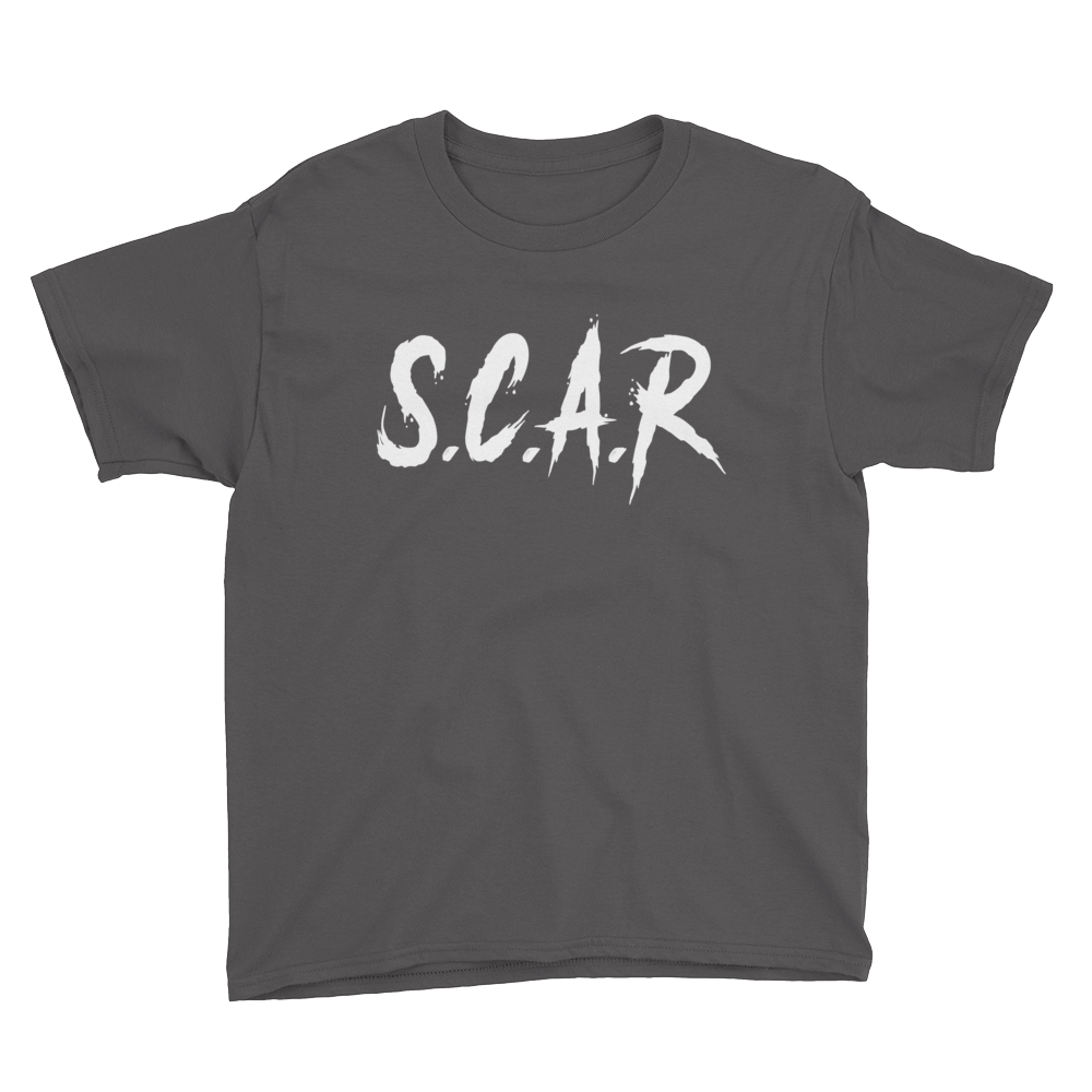 S.C.A.R Kids T-Shirt - Charcoal/White