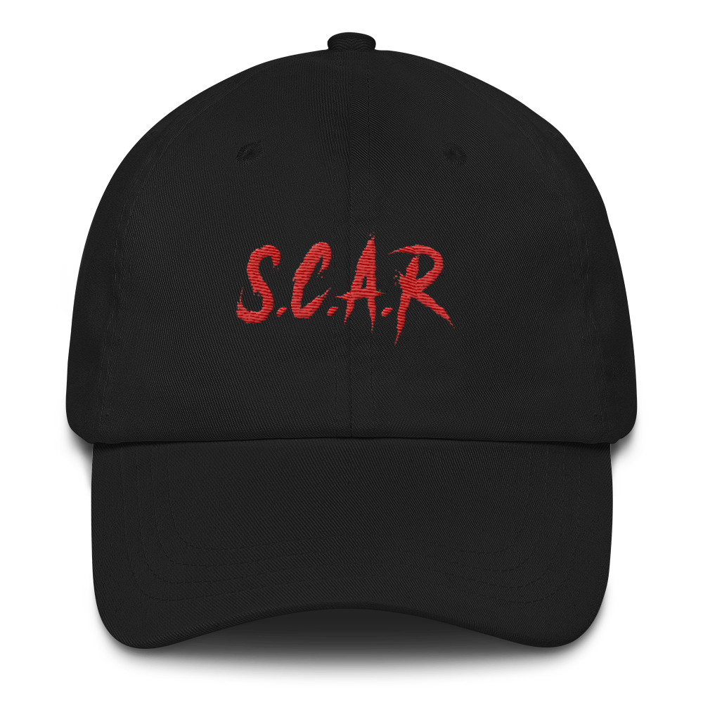 S.C.A.R Dad Hat - Black/Red