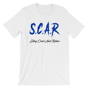 S.C.A.R Logo T-Shirt - White/Royal