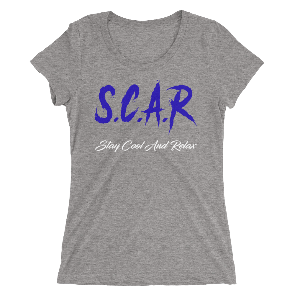 S.C.A.R Logo Women's T-Shirt - Grey/Royal