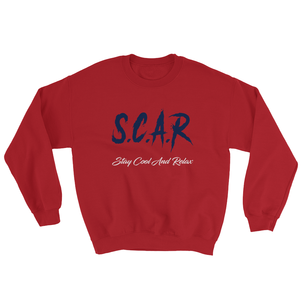 S.C.A.R Logo Sweatshirt - Red/Navy