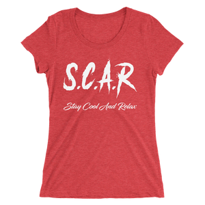 S.C.A.R Logo Women's T-Shirt - Red/White