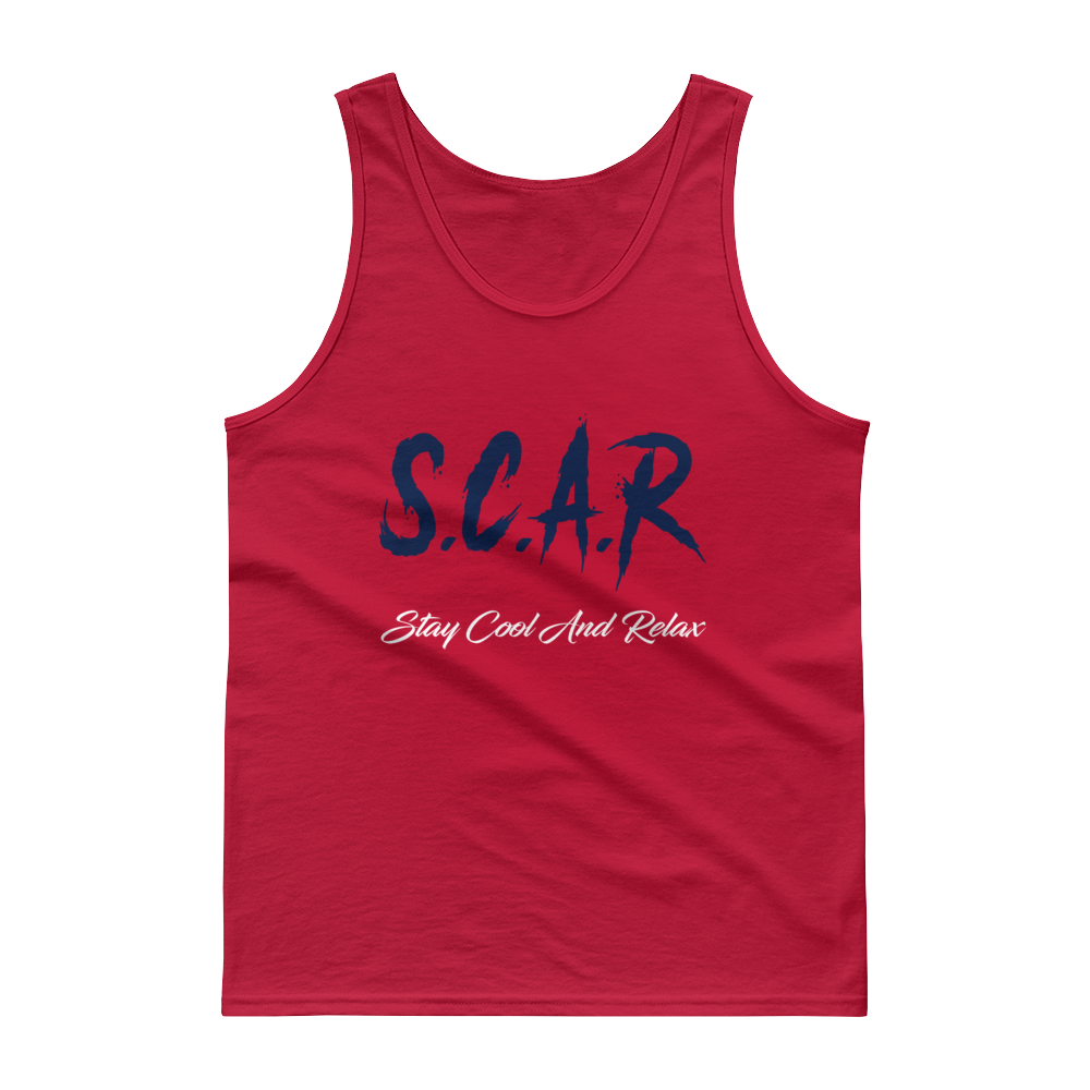 S.C.A.R Logo Tank - Red/Navy