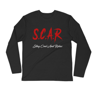 S.C.A.R Logo Long Sleeve Fitted - Black/Red/White
