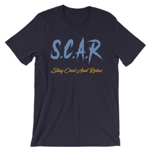 "S.C.A.R Logo T-Shirt ""Grizzly Edition"" - Navy/Blue/Gold"