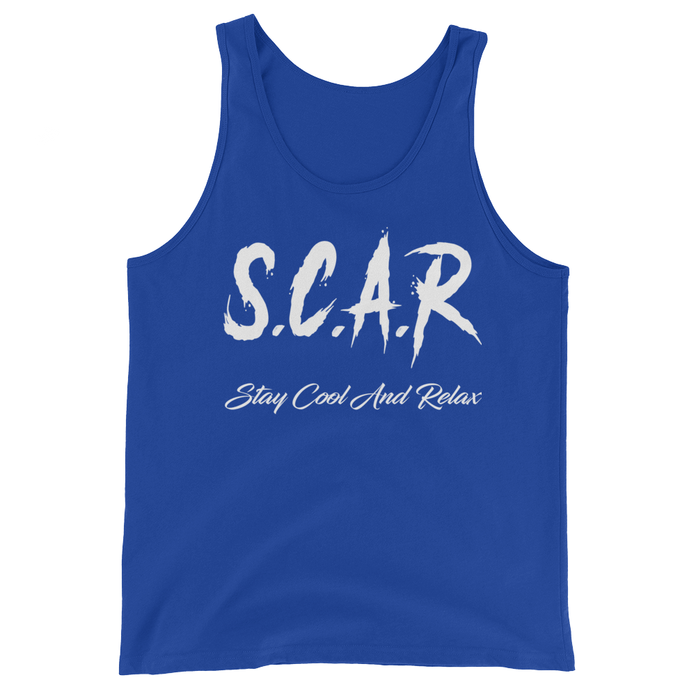 S.C.A.R Logo Tank - Royal/White