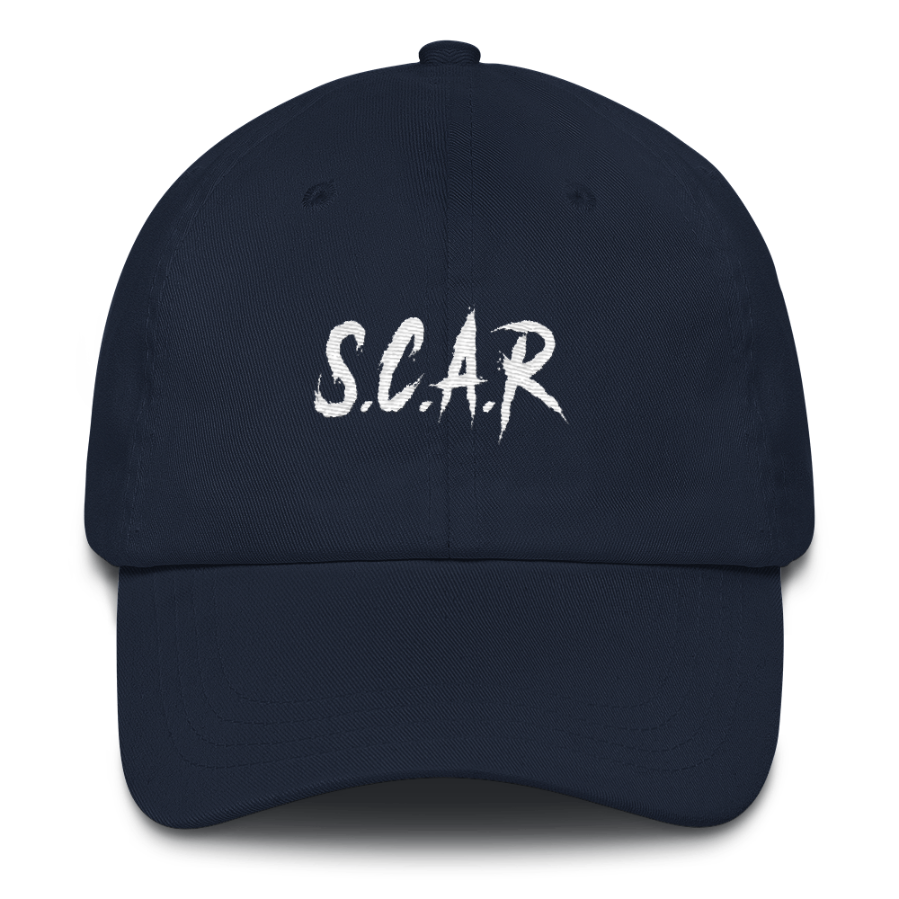 S.C.A.R Dad Hat - Navy/White