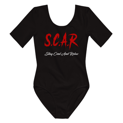 S.C.A.R Logo Women's Short Sleeve Bodysuit - Black/Red