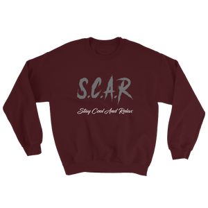 S.C.A.R Logo Sweatshirt - Marroon/Grey