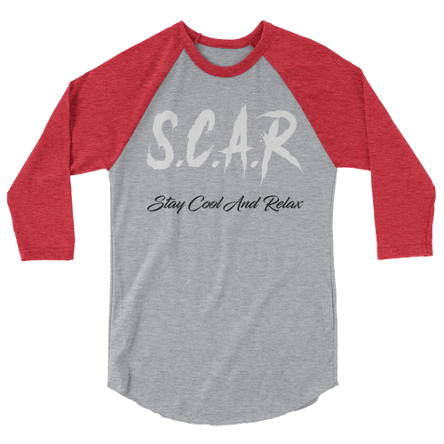 S.C.A.R Logo 3/4 Sleeve Shirt - Grey/Red