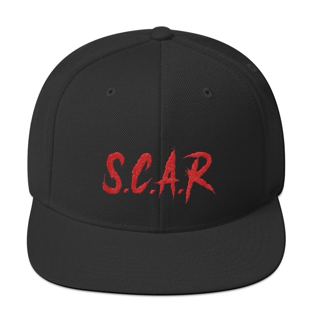 S.C.A.R Snapback Hat - Black/Red