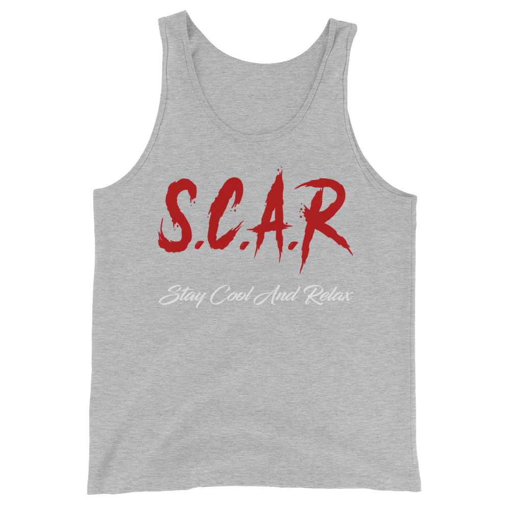 S.C.A.R Logo Tank - Grey/Red