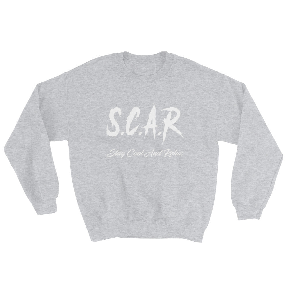 S.C.A.R Logo Sweatshirt - Grey/White