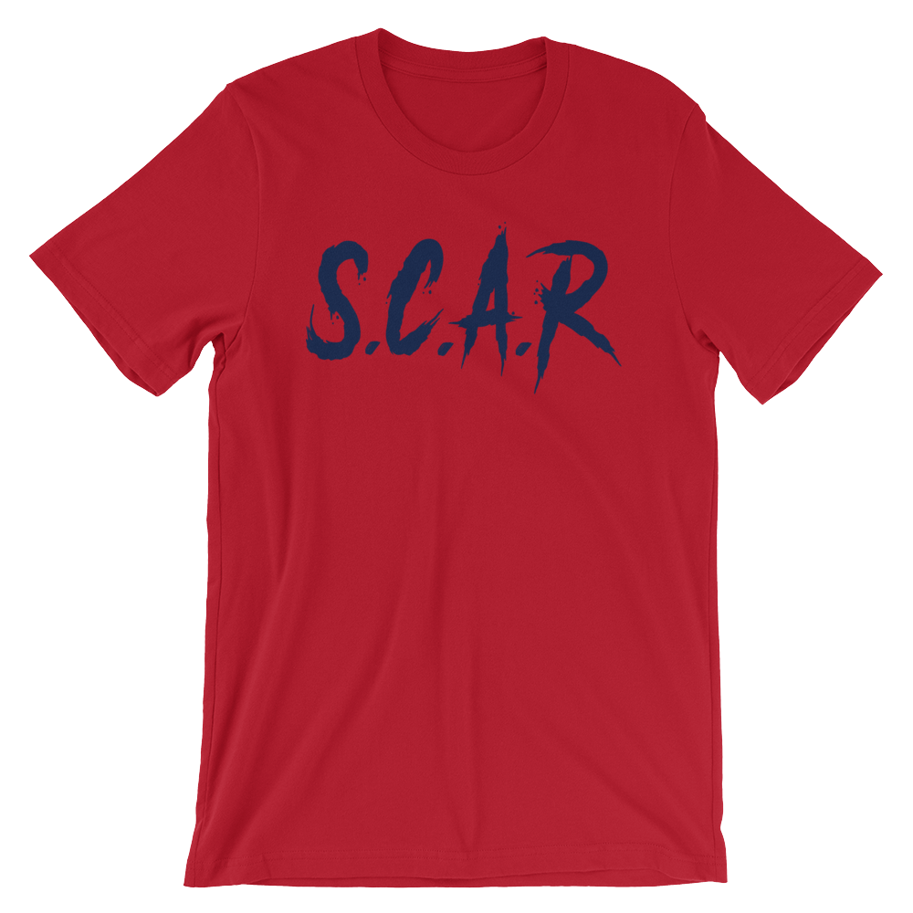 S.C.A.R T-Shirt - Red/Navy