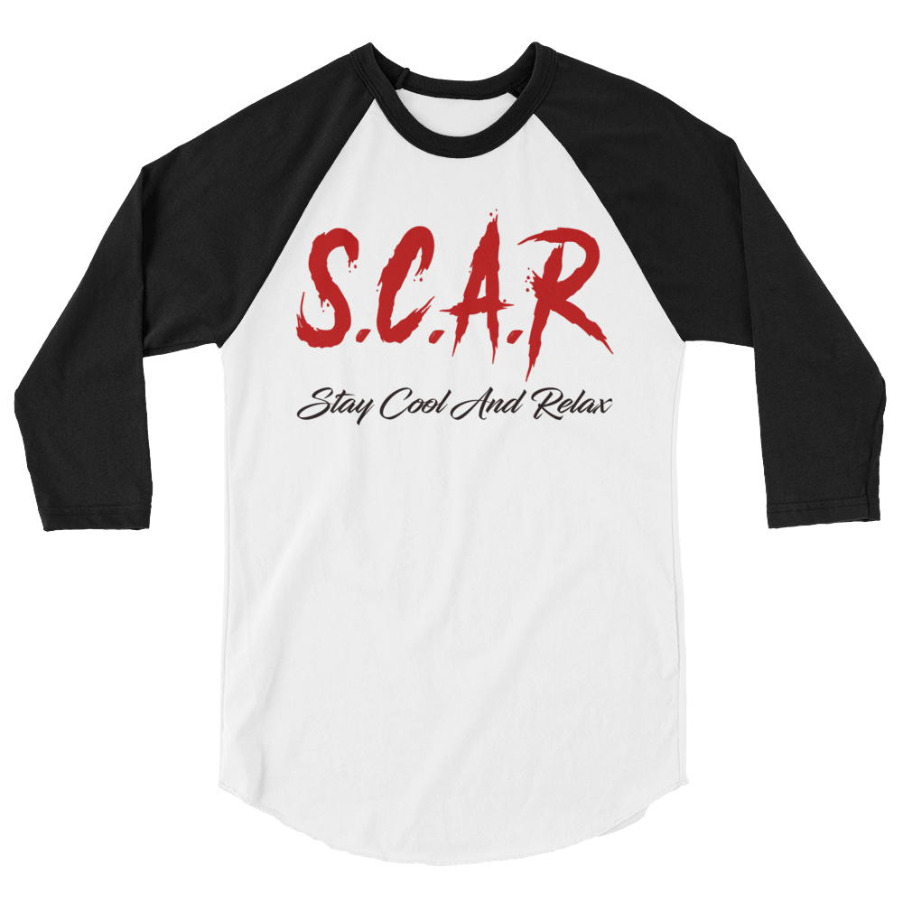 S.C.A.R Logo 3/4 Sleeve Shirt - Black/Red/White