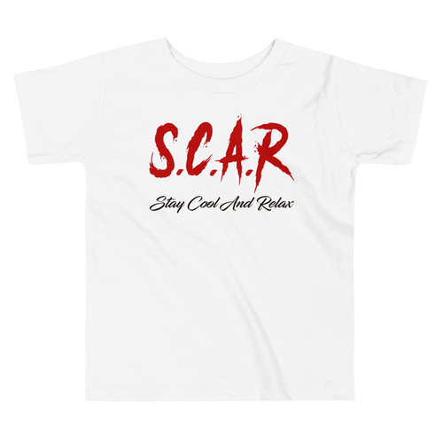 S.C.A.R Logo Toddler T-Shirt - White/Red