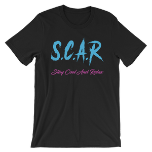 "S.C.A.R Logo T-Shirt ""Vice City I"" - Black/Blue/Fuschia"