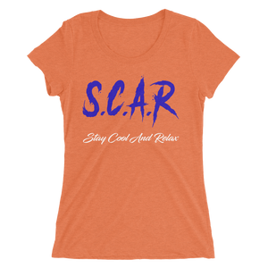 S.C.A.R Logo Women's T-Shirt - Orange/Blue