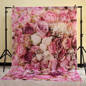 Pink Roses cluster photo Backdrop for studio photography