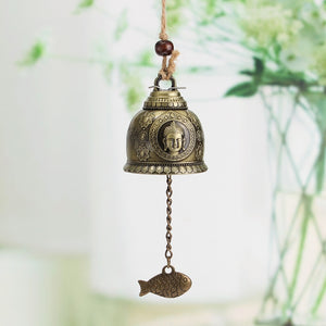 Buddha Pattern Feng Shui Wind Chime for Good Luck & Fortune