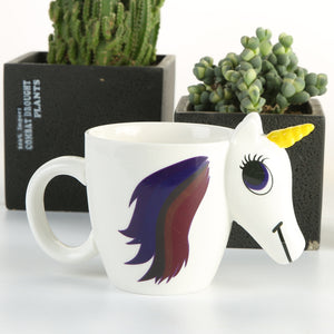 Colour Changing Unicorn Mug With 3D Face and Horn