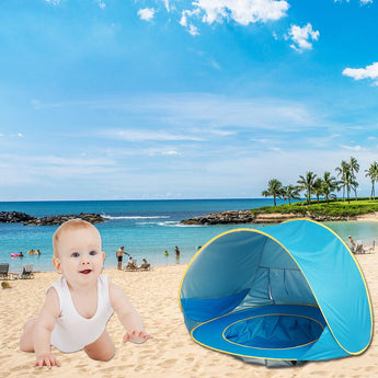 Baby Beach Tent With Wading Pool and UV Protection