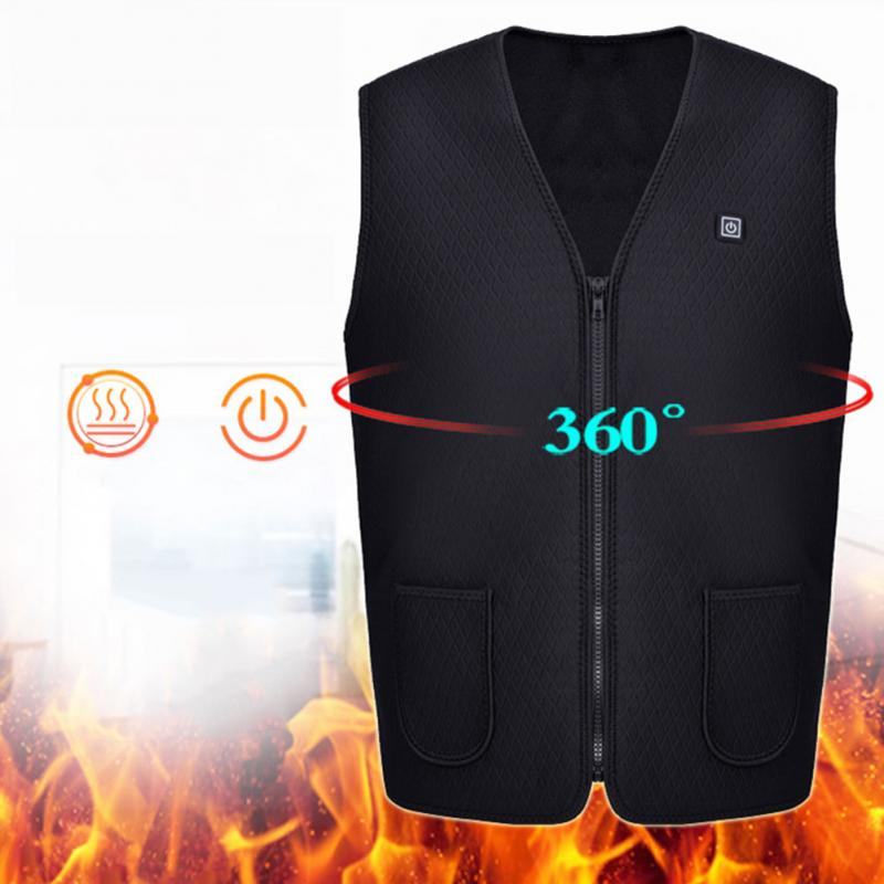 Mens USB Heated Sleeveless Outdoor Vest Jacket