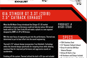 Thermal R&D Stinger Catback Exhaust