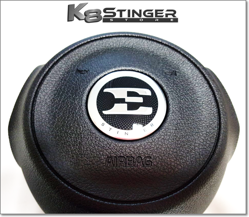 Stinger E logo steering wheel emblem