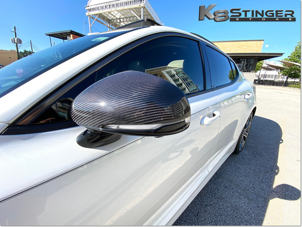 Kia Stinger Carbon Fiber Mirror Covers