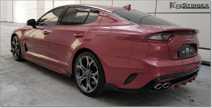 Kia Stinger Rear Red Diffuser